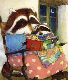 Christopher Denise - Mama and baby raccoon bedtime story
