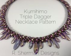 PDF Kumihimo Lentil Edge Necklace Pattern by RShermanDesigns