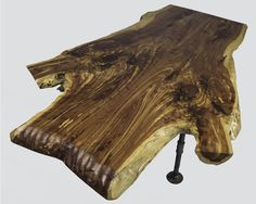 Rustic Live Edge Coffee Table, made at Woodstock Vintage Lumber in Nashville, TN.
