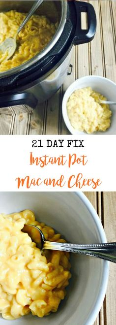 21 Day Fix Instant Pot Mac and Cheese {Gluten-free} | Confessions of a Fit Foodie