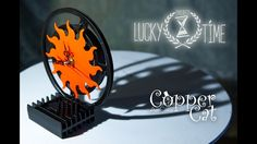 """Table Clock """"LuckyTime"""" by """"Copper Cat Art Group"""". Steampunk. Dieselpunk."""