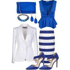 Sophisticated Chic by Deranged Diva. A fashion look from February 2015 featuring Dolce&Gabbana blazers, Camilla and Marc skirts and Vince Camuto pumps. Browse and shop related looks.