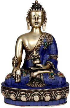 Tibetan Buddhist Deity- Lapis Healing Buddha (Inlay Statue), Brass Brass Statue with Inlay Baby Buddha, Buddha Life, Buddha Zen, Buddha Palm, Buddha Wallpaper Iphone, Zen Wallpaper, Buddha Home Decor, Buddha Garden, Legend Of King