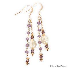Tanzanite and Citrine Drop Earrings        Price: $54.95