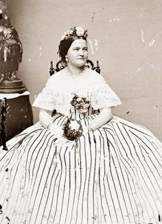Mrs. Mary Todd Lincoln, wife of the 16th President of the US, Abraham Lincoln