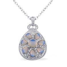 http://www.bonanza.com/listings/On-Sale-Opalite-White-Austrian-Crystal-Art-Deco-Pendant-in-Silvertone-With-20-i/150309007