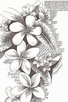 090d98d40499783e6df66f50f415144c--flower-sketches-drawing-flowers.jpg (599×900) #hawaiiantattoossleeve