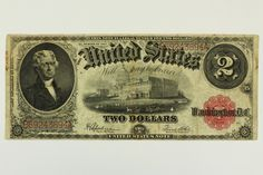 1917 Two Dollar 2 Dollar Bill United States Legal Tender Large Note Red Seal