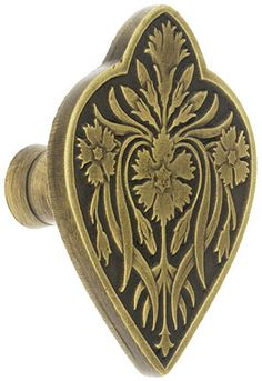 "Dianthus Cabinet Knob - 1 7/8"" x 1 1/2"" 