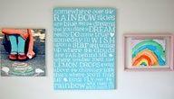 Somewhere Over the Rainbow room idea