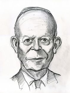 Dwight D. Eisenhower, 34th President of the United States 1953-1961.