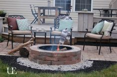 inexpensive way to extend the patio for the firepit