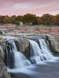 USA, South Dakota, Sioux Falls, Sioux Falls Park Photographic Print by Walter Bibikow at Art.com