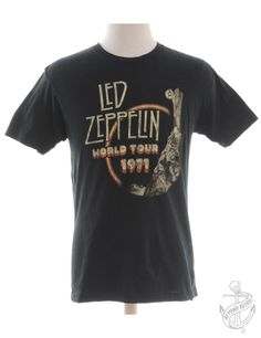 Vintage Band T-shirt Black With Led Zeppelin Print | Beyond Retro