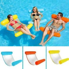Inflatable Water Hammock Floating Bed Lounge Chair Drifter Swimming Pool Beach Float Chair for Adult XR-Hot Pool Lounge Float, Pool Lounge Chairs, Beach Chairs, Dining Chairs, Portable Swimming Pools, Swimming Pool Toys, Water Hammock, Hammock Bed, Water Bed