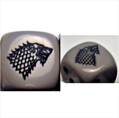 House STARK - Custom PAIR of ENGRAVED Dice - A Game of Thrones on eBid United States