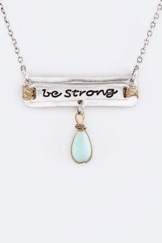 Silver Be Strong Necklace