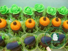 bombons decorados com verduras (fazendinha)