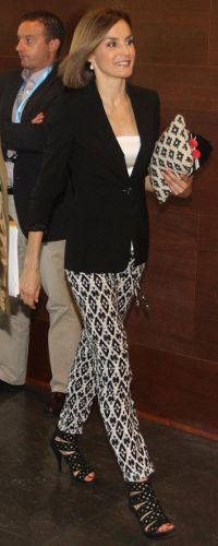Queen Letizia during a visit to the 'Forum Impulsa' at the Auditori of Girona on June 26, 2015 in Girona, Spain.