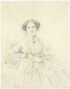 Madame Félix Gallois, drawn by Jean-Auguste-Dominique Ingres in 1852.  Via Metropolitan Museum of Art.