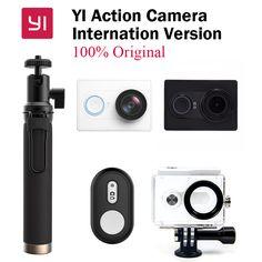 New gốc xiaomi yi action máy ảnh xiaoyi wifi sport máy ảnh 16mp 60fps wifi ambarella bluetooth phiên bản quốc tế