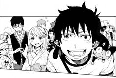 ":D Rin is always so excited compared to everyone else, and Yukio looks like he's playing the part of ""wet blanket"" as usual lol 