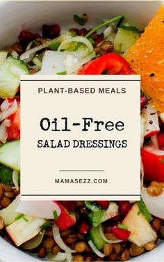 Oil-Free Vegan Salad Dressing 5 Awesome Recipes - Healthy Food Delivery - Ideas of Healthy Food Delivery - 5 Healthy Oil-Free Salad Dressings Oil Free Salad Dressing, Salad Dressing Recipes, Coleslaw Dressing, Fat Free Salad Dressing Recipe, Vegan Sos Free, Fat Free Vegan, Diet Salad Recipes, Vegan Recipes, Free Recipes