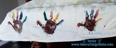 Cute tablecloth idea for thanksgiving!!