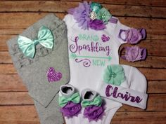 baby girl coming home outfit coming home outfit by SweetnSparkly