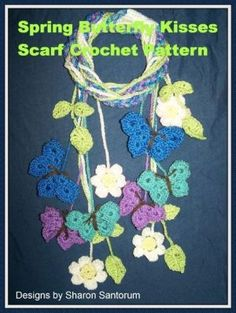 Spring+Scarf+Butterfly+Kisses+Crochet+Pattern