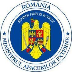 Atentionare de calatorie pentru romani inspre Ungaria   | Insigna Ministerului Roman de Afaceri Externe cu vulturul galben