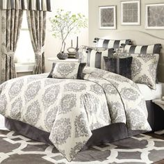 Michael Amini® Park Lane 4-Piece Comforter Set - BedBathandBeyond.com, would love this in my guest room