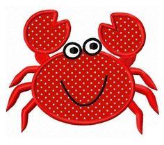 Crab applique - machine embroidery design. $4.00, via Etsy.