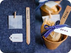 Adorable seed kit favors by Chelsea Fuss at Frolic for Project Wedding!