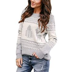 7124cfb2987 Amazing offer on ShenPr Womens Merry Christmas Snowflake Printed Cowl Neck  Sweatshirt Blouse Tunic Pullovers Tops Clearance online in 2019