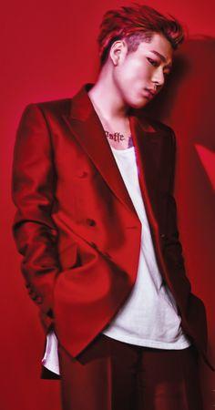 Block B Zico Beauty+ Magazine January 2016 Photos Fashion Style Zico Block B, B Bomb, Red Suit, Beauty Magazine, Korean Music, G Dragon, Korean Celebrities, K Idols, Fashion Photo