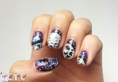 Base Coat Top Coat has undeniably some of the best ART in the nail art world. Look at these craters on that moon!