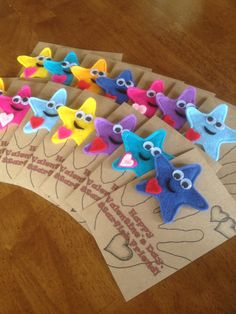 Finger puppet Valentines for Starfish preschool class.