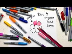 These adult coloring tutorials will help beginner colorists learn colored pencil techniques, how to color with markers, and other beginner coloring tips. Sharpie Projects, Sharpie Crafts, Sharpie Markers, Sharpie Art, Sharpie Doodles, Sharpies, Coloring Tips, Adult Coloring, Coloring Books