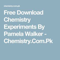 Free download organic chemistry 3rd edition by janice gorzynski free download chemistry experiments by pamela walker chemistry fandeluxe Gallery