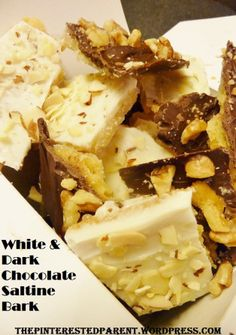 White & Dark Chocolate Saltine Bark