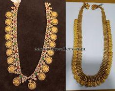 Jewellery Designs: Kasu Mala in Antique Style