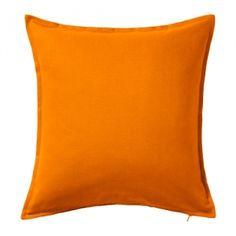 Sofiabrands Orange Cotton 18X18 Inch Cushion Cover ( 2 Pcs Set) (Without Filler)