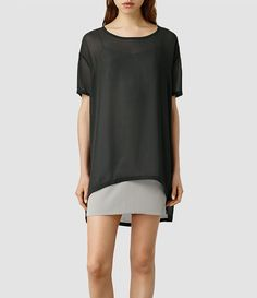 Womens Lance Dress (Anthracite/Taupe) - product_image_alt_text_1