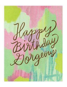 Birthday Gorgeous
