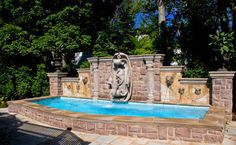 ** Swimming Pool with Fountain