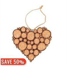 Cut Wood Ornament Heart