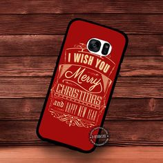 I Wish You Merry Christmas And happy New Year - Samsung Galaxy S7 S6 S5 Note 7 Cases & Covers