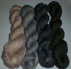 Design Color Pack  Stonequarry by stitchjones on Etsy (Craft Supplies & Tools, Fiber & Textile Art Supplies, Yarn & Roving, Yarn, Fingering, yarn, merino, bamboo, nylon, superwash, sock, fingering, hand dyed, neutrals, mini skeins, kit)