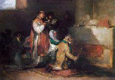 """Esta obra se atribuye a Francisco de Goya y Lucientes. Su título es: """"Matrimonio desigual"""", aunque también se la conoce como """"Matrimonio ridículo"""" o """"Boda grotesca"""". Fue realizada hacia 1819, y se encuentra en el Departamento de Pinturas del Museo del Louvre (París, Francia). También existe otra versión de la misma obra en la Fundación Lázaro Galdiano (Madrid, España)."""